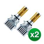 PIAA PIAA-17501 (2-Pack) Yellow LED Fog Bulb